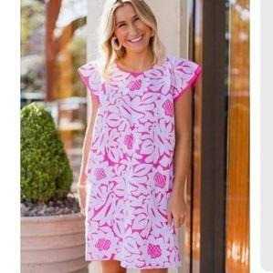 J. Marie Pink Mia Floral Dress